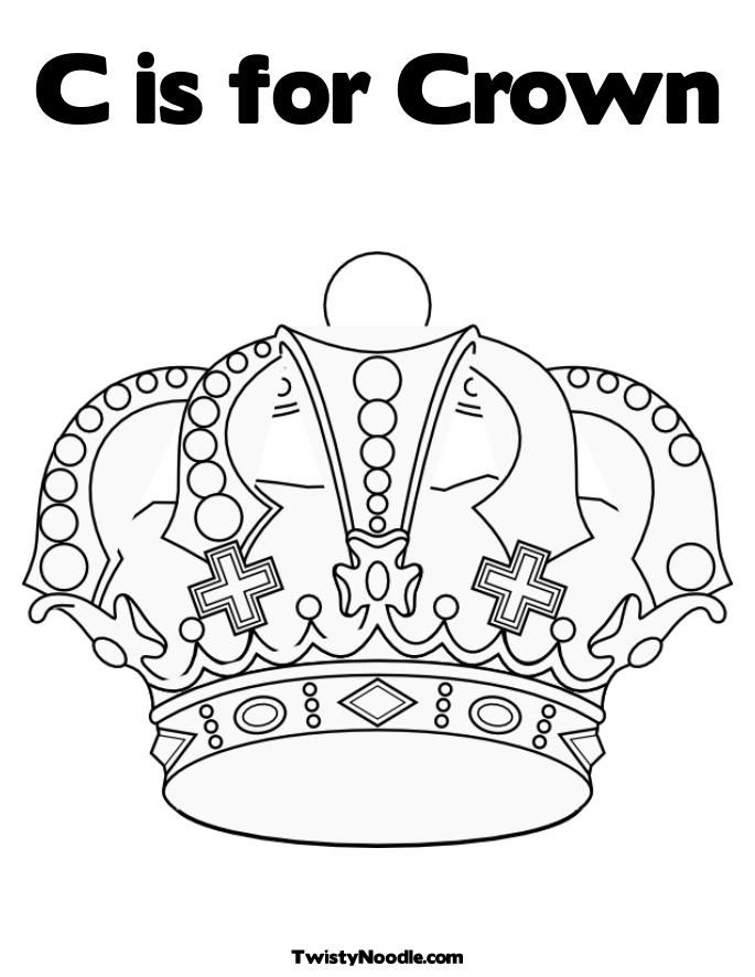 Crown Coloring Page With Images Princess Coloring Pages