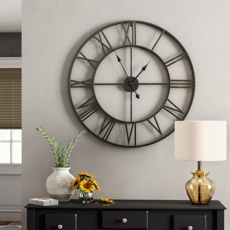 Elborough Wall Clock Wall Clocks Living Room Big Wall Clocks