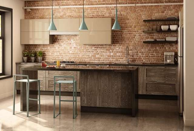 Modern Day Kitchens miralis rough chic adds texture and warmth to the modern-day