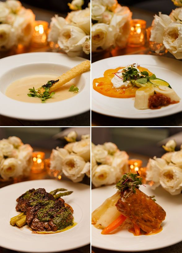 Guests Were Served With These Four Delicious Courses Miami Weddingwedding Dinnerdream