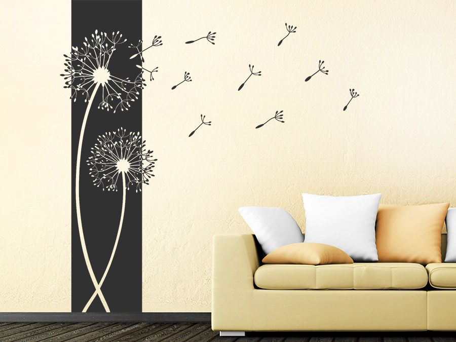 banner pusteblumen wandbanner pusteblume wandtattoo und. Black Bedroom Furniture Sets. Home Design Ideas