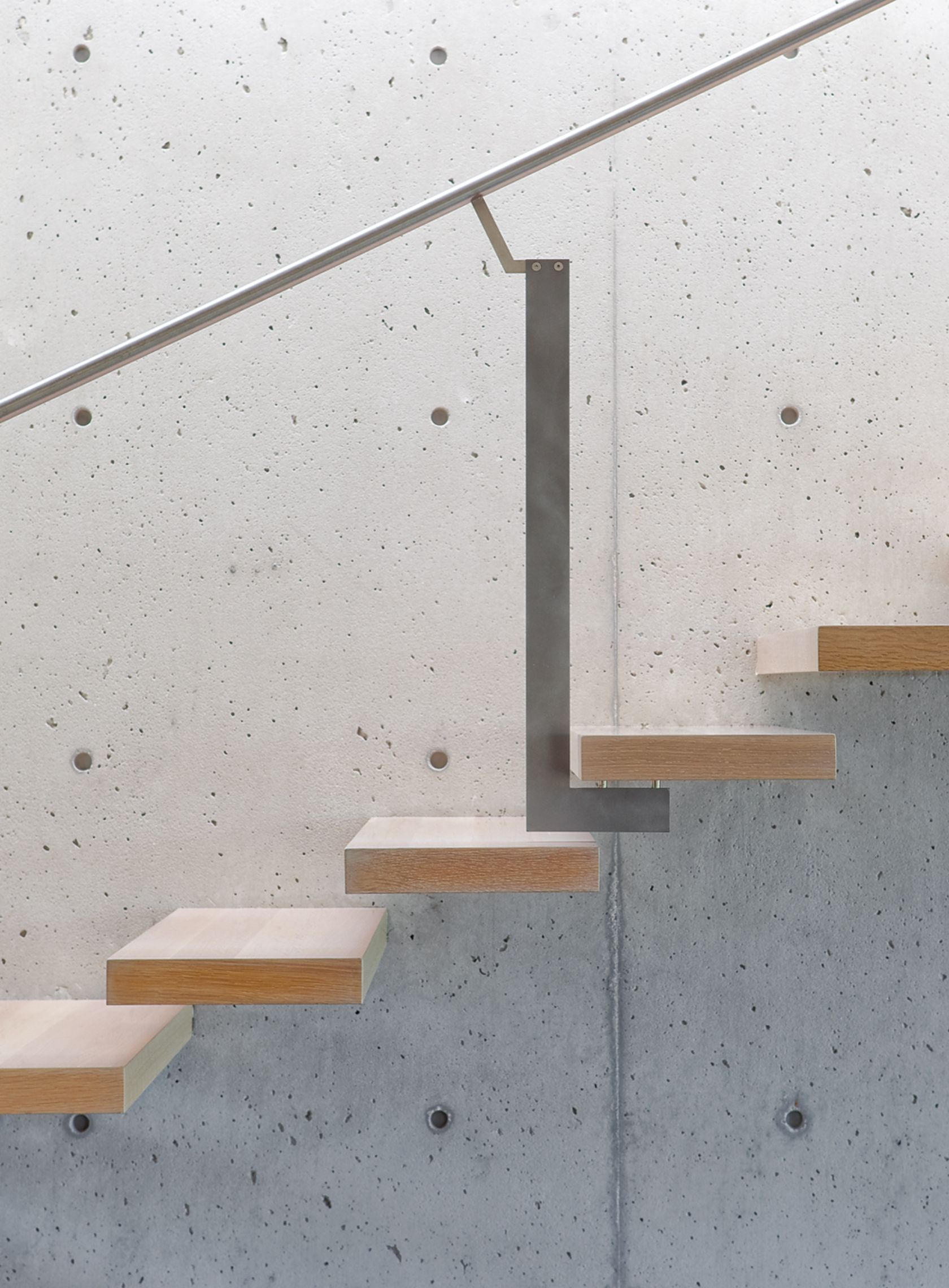 Stairs. Tolmie Residence. Vancouver, Canada. Batters by Howat.