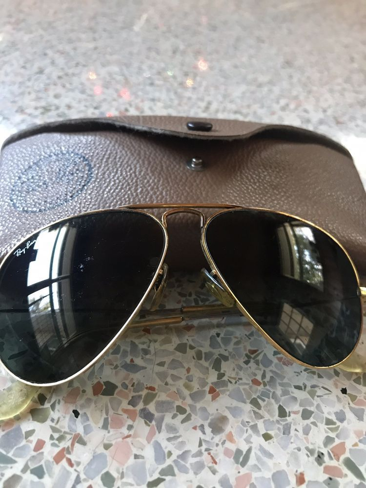 Vintage 1950s 1975 Bausch Amp Lomb B Amp L Ray Ban Aviator Sunglasses In Case Fashion Clothing Shoe
