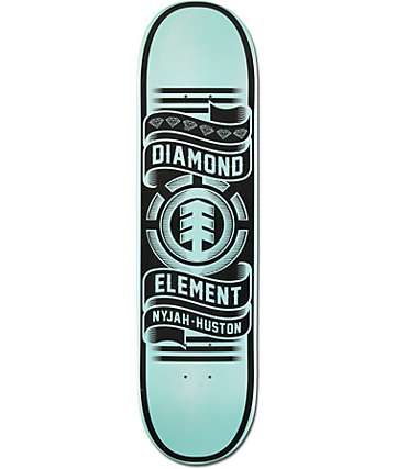 Element X Diamond Supply Co Nyjah Huston 80 Skateboard Deck