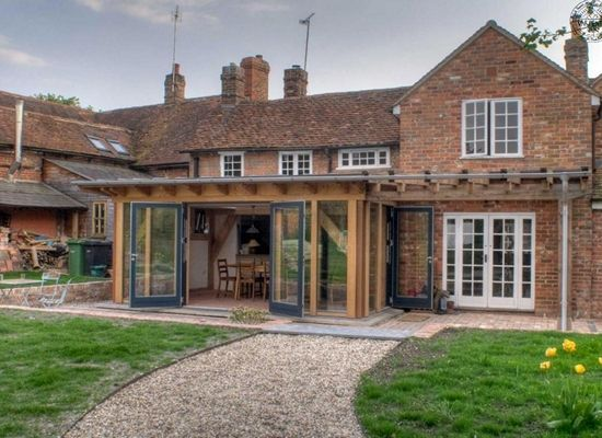 Georgina Property With Oak Frame Glazed Panels Set