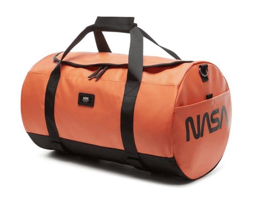 Vans x Space Voyager NASA Grind Skate Duffel Bag Orange Black Sk8 ...