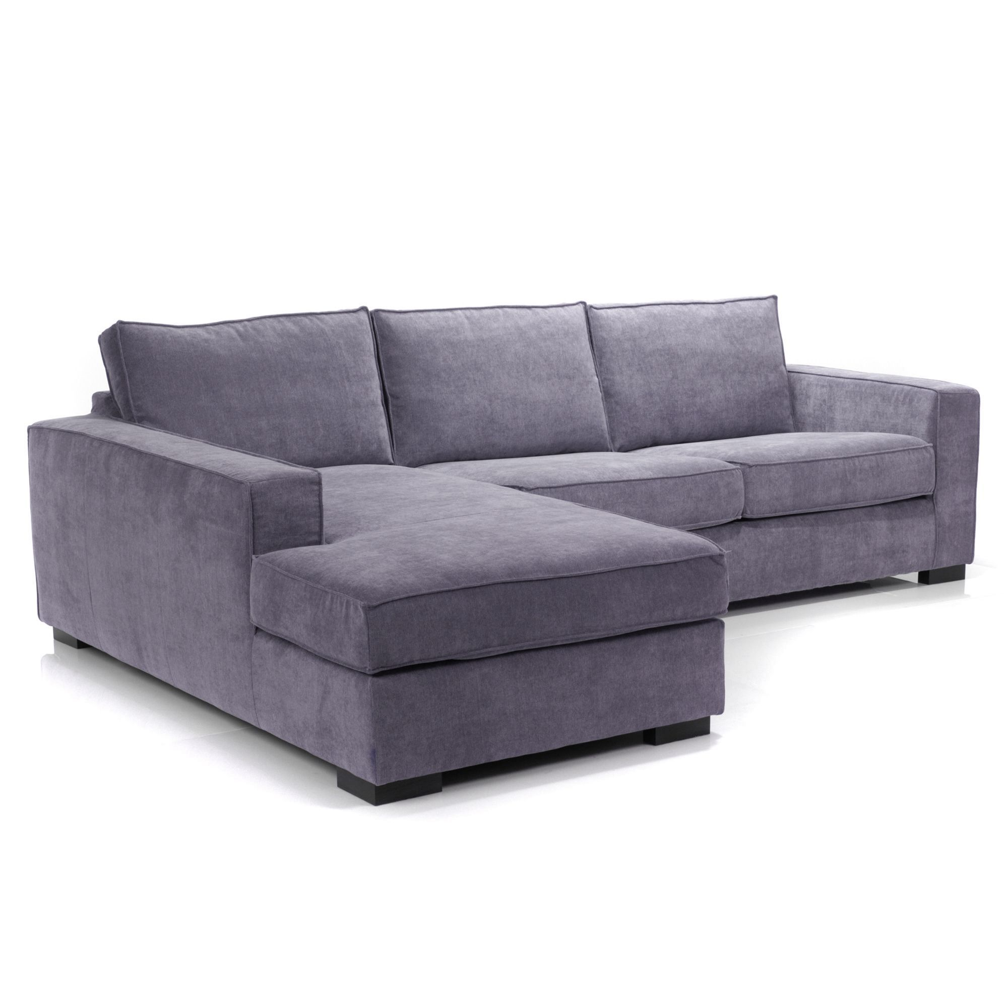 Canap d 39 angle gauche convertible mauve california les for Alinea canape california