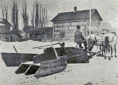 Scenes From The History Of Snow Removal Snow Horse Drawn Snow Plow