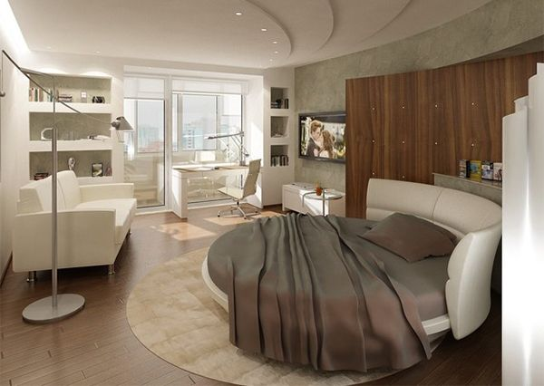 25 Round Beds for those who want to be different room ideas
