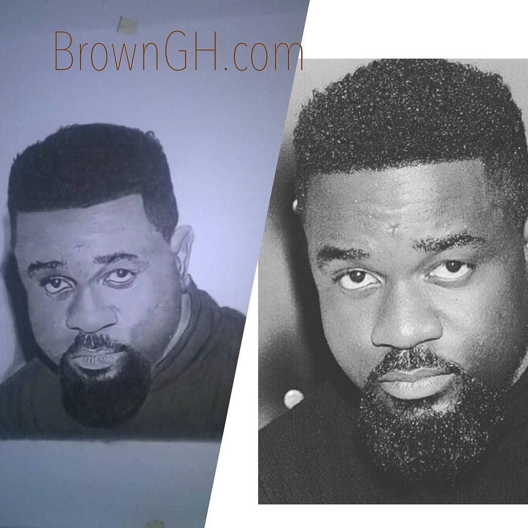 Drawing of sarkodie by typer