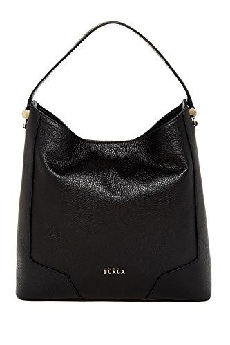 4887f875c3fe Furla Michelle Leather Hobo Shoulder Bag, Onyx   Designer Handbags ...