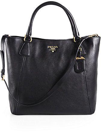 75d109f806 Prada Vitello Daino Snap Top Tote on shopstyle.co.uk | Hang Bags ...