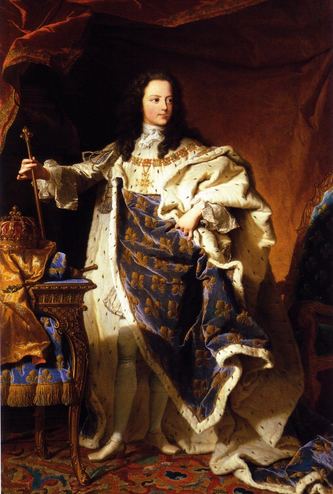 Inspiré par Hyacinthe Rigaud, Portrait de Louis XV, enfant ...