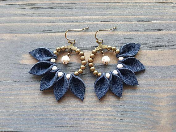Photo of Fringe Hoop Earrings, Leather Earrings, Bohemian Earrings, Fun Summer Earrings, Boho Earrings, Statement Earrings, Statement Jewelry.