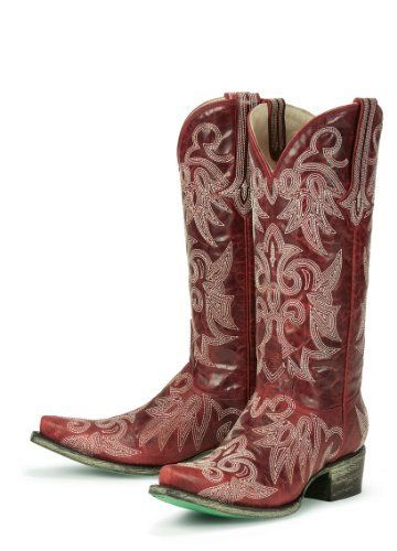 d3c8159abd Lane Boots Wild Ginger Red with Ivory Stitching Leather Fashion Cowgirl  Boots Lane boots