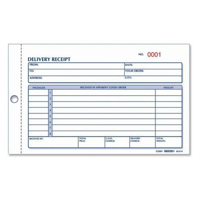 Rediform Delivery Receipt Book Carbonless 4 25 X 6 375 Inches 50 Duplicates 6l614 2015 Amazon Top Rated Medical In Good Essay Receipt Template Delivery