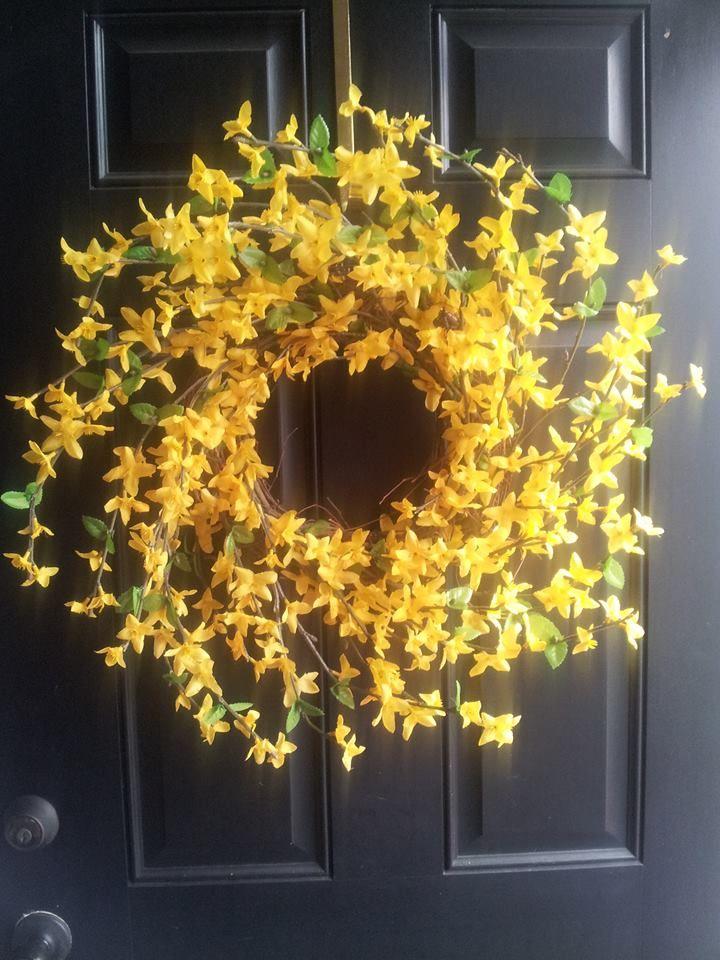 Spring Wreath For Front Door Yellow Door Wreath Door