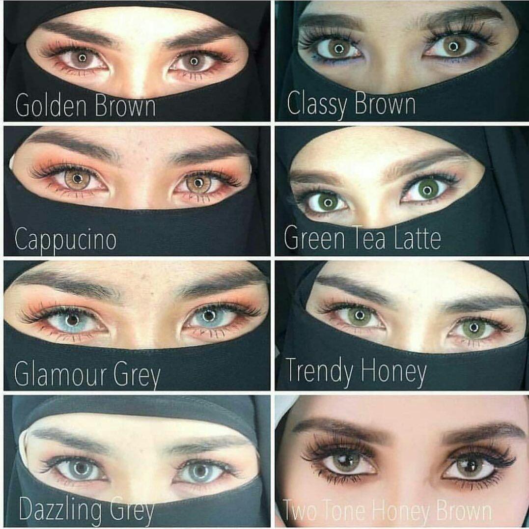 Wawasoftlens By Wawa Zainal Classy Brown Butterscotch Cappucino Golden Brown Glamour Grey Contact Lenses Contact Lenses Colored Makeup Guru