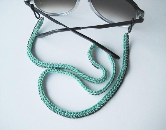 Stylish Eyeglasses Chain Minimalist Glass Lanyard Crochet And