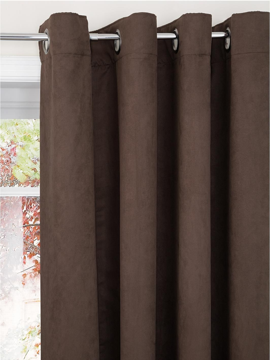 Faux Suede Eyelet Curtains (Extra long drop available), http://www ...