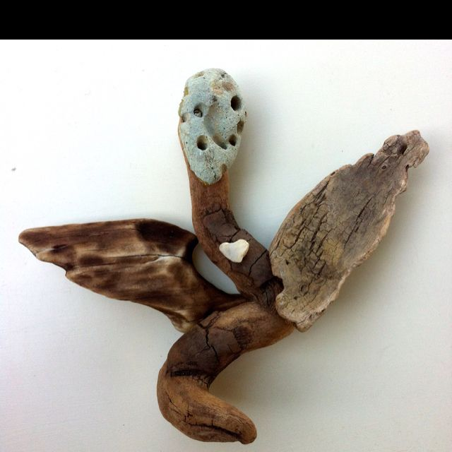 """""""Loving Guardian Angel"""" Driftwood Art by Mother Nature.    Handmade by Doctor Driftwood."""