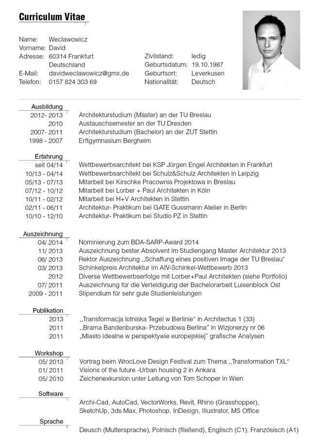 Format Of German Tabular Cv Question Preplounge Cv Template Resume Design Template Cv Template Word