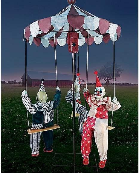 6 Ft Clown Go-Around Animatronics - Decorations - Spirithalloween