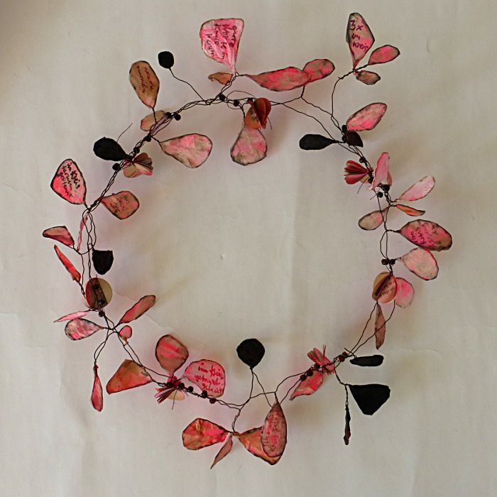 wreath of words | Wreaths, Beads and Creative inspiration
