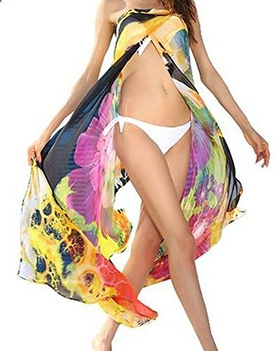 6dfa45f64d3 Cami sunny Sexy Womens Floral Chiffon Beach Bikini Swimwear Cover up Dress.  Check website for more description.