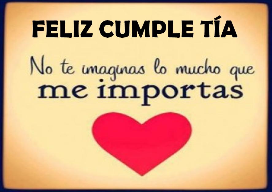 Feliz Aniversario Tia Espanol: Feliz Cumple Tía Imágenes Importante