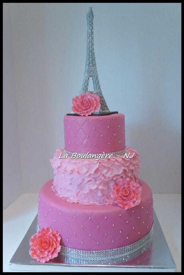 Paris Theme Birthday Cake | Tortas Temáticas Paris | Pinterest ...