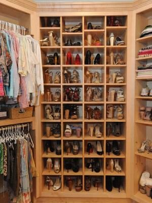 Traditional Closet By Webber Coleman Woodworks. THE SHOES! The Shoes!