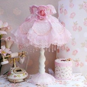 Shabby Chic Vintage Style Lamp