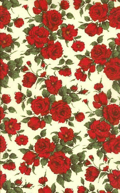 Red Rose Pattern Iphone Wallpaper Vintage Flower Wallpaper