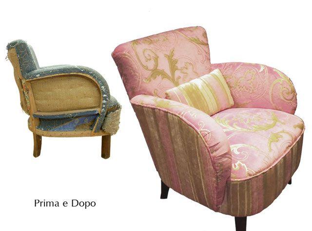 Gallery Poltrone rifatte Italian Vintage Sofa Poltrone