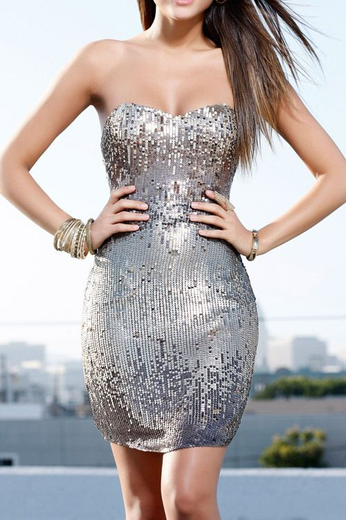 Silver Purple Silver Sequin High End Sweetheart Strapless Glitter Dress