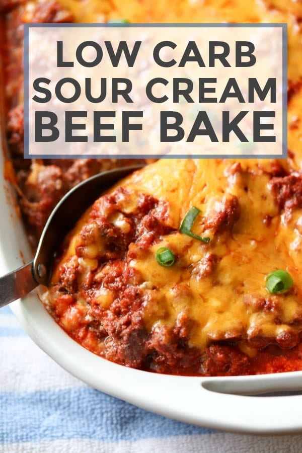 Low Carb Sour Cream Beef Bake #beefbake