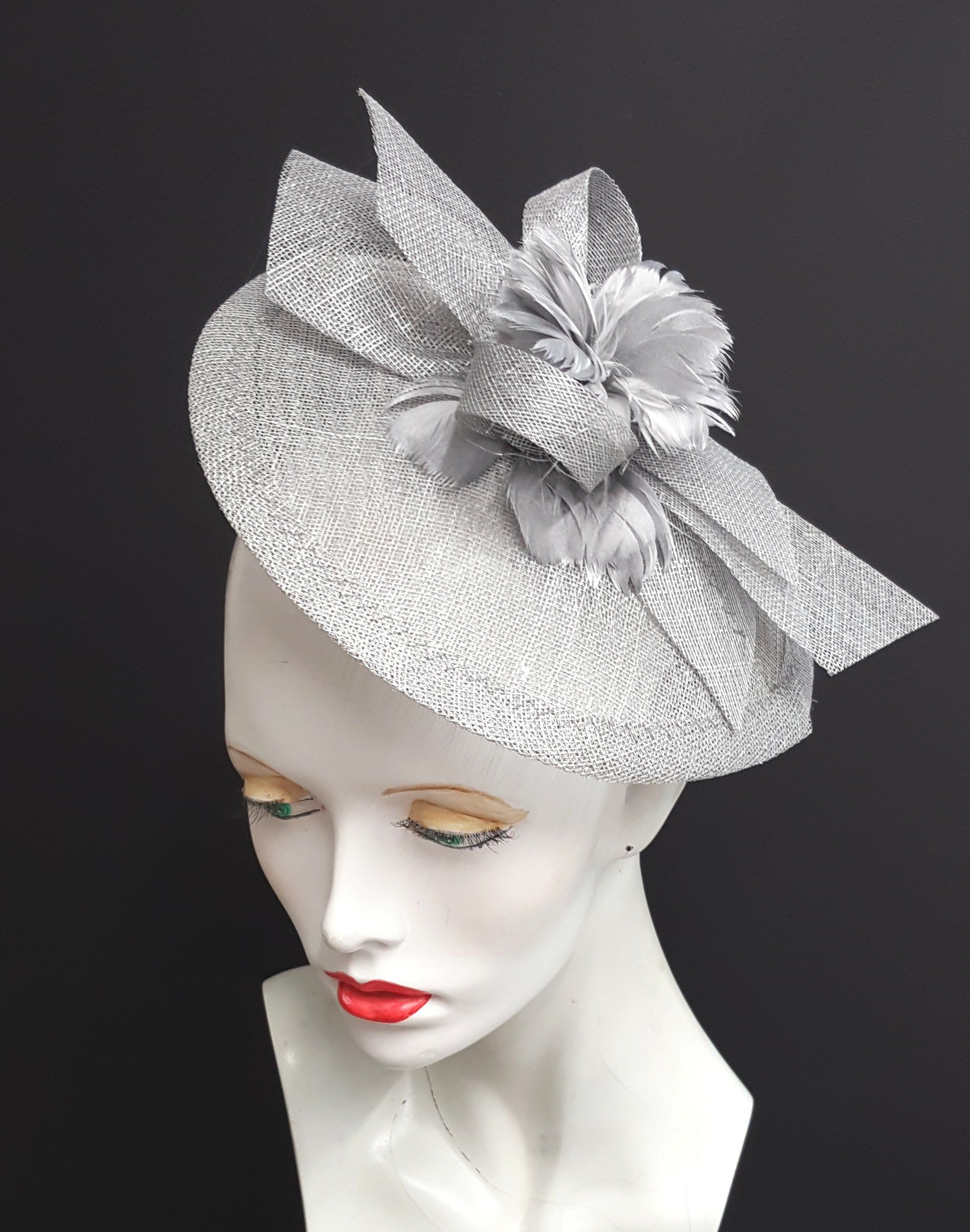 BRAND NEW LIPSTICK PINK ASCOT WEDDING HAT FORMAL FASCINATOR  MOTHER OF THE BRIDE