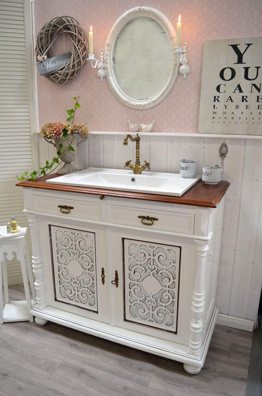Antiker Waschtisch Mit Waschbecken