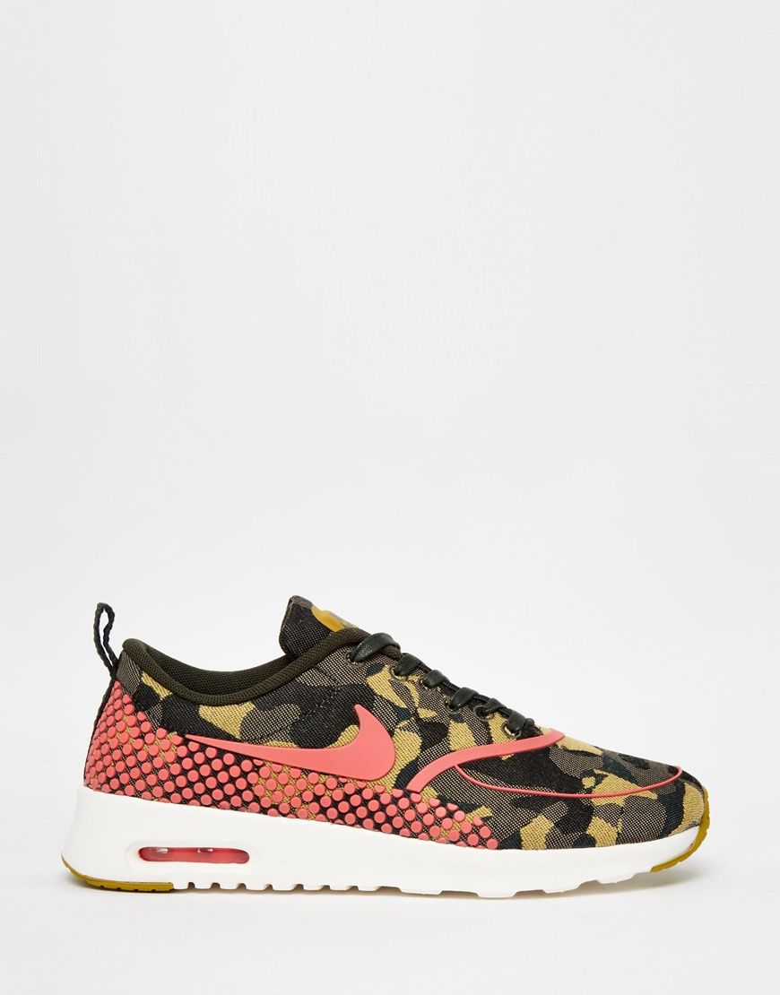 nike air max thea camo print trainers on biggest