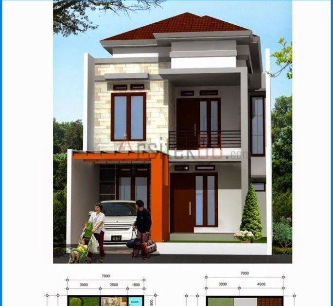 Rekomendasi Gambar Gambar Denah Rumah Minimalis 2 Lantai Denah