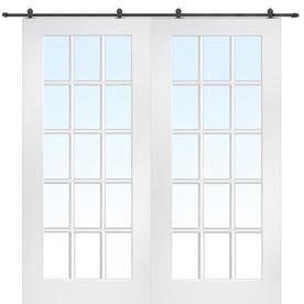 Mmi Door Primed Hardboard Barn Door Hardware Included Common 64 In X 80 In Actual 64 In X 80 In Lowes Com Barn Doors Sliding French Doors Interior Sliding Doors Interior