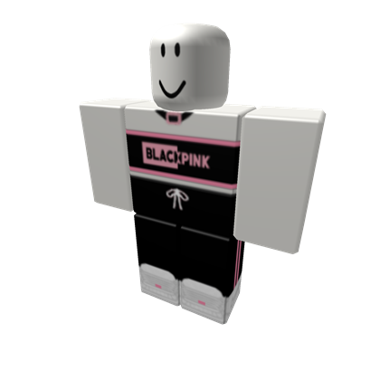 5 𝓑𝓵𝓪𝓬𝓴 𝓟𝓲𝓷𝓴 Outlined Top W Pants Roblox Roblox