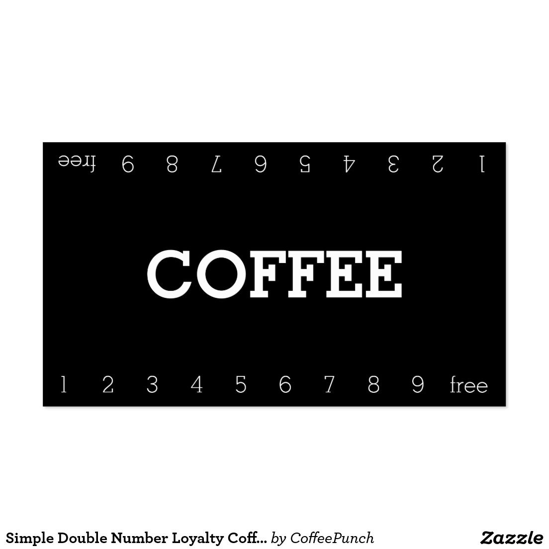 Simple Double Number Loyalty Coffee Punch Card Business