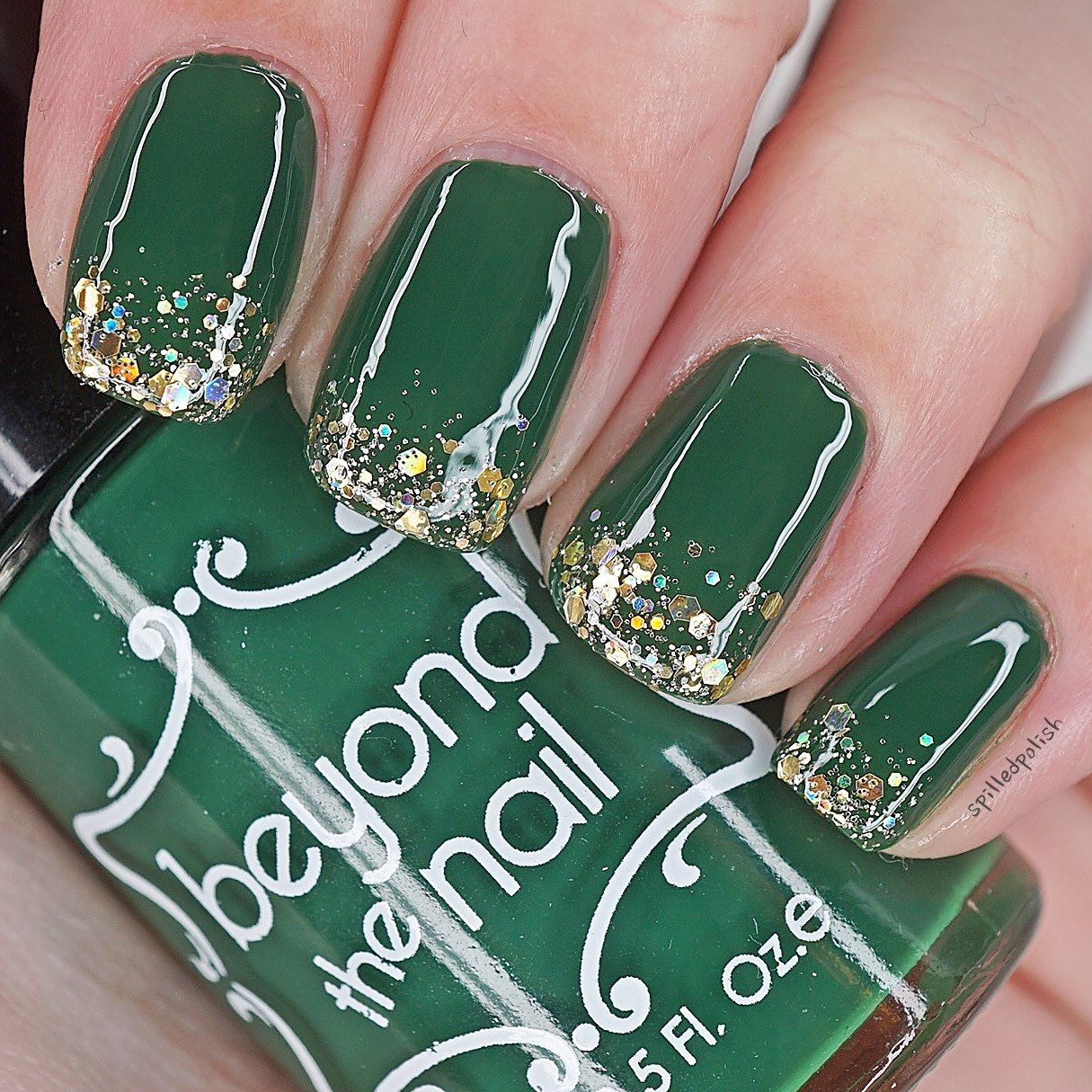 St. Patrick\'s Day Glitter Tip Nails | Nails | Pinterest