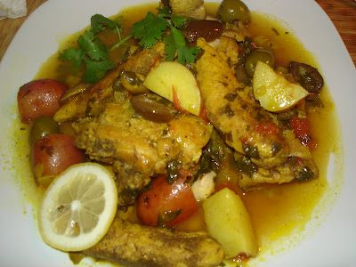 Chicken and Olive Tajine  Sounds delicious!