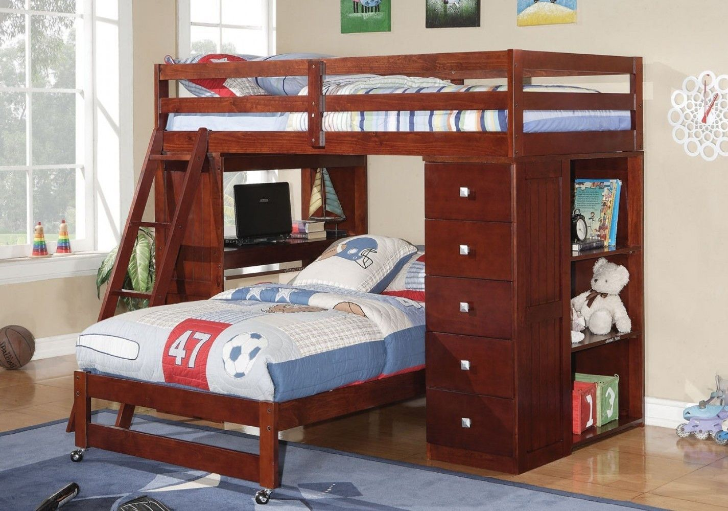 Jacob bunk bed with desk dresser and bookcase bunk bed desk and
