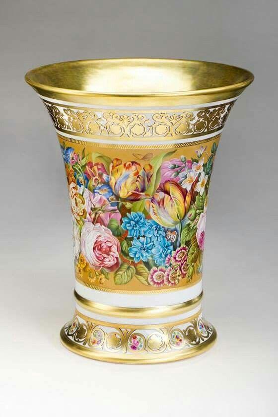 Váza • malovaný,zlacený porcelán