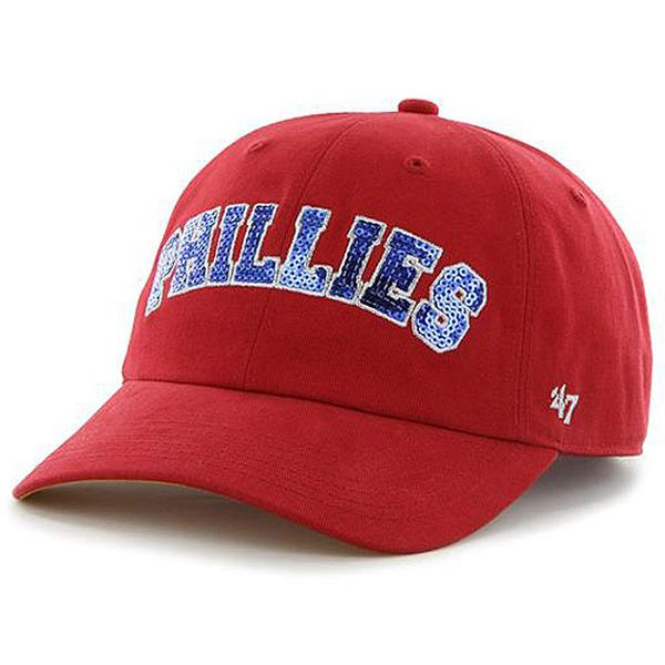 Women s Philadelphia Phillies  47 Red Natalie Sparkle Cleanup Adjustable Hat 5036e952a6