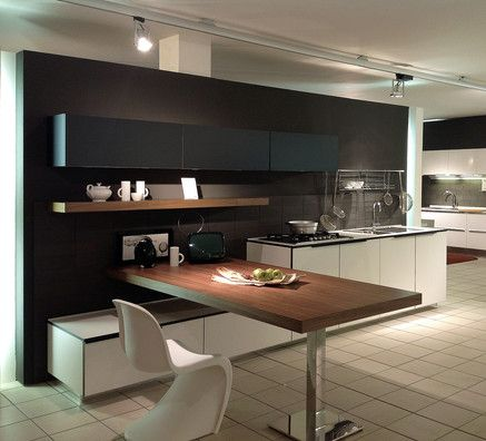 Cucina effeti modello segno laminato bianco top laminato bianco nero basi l cm 300 p cm 64 - Top laminato cucina ...
